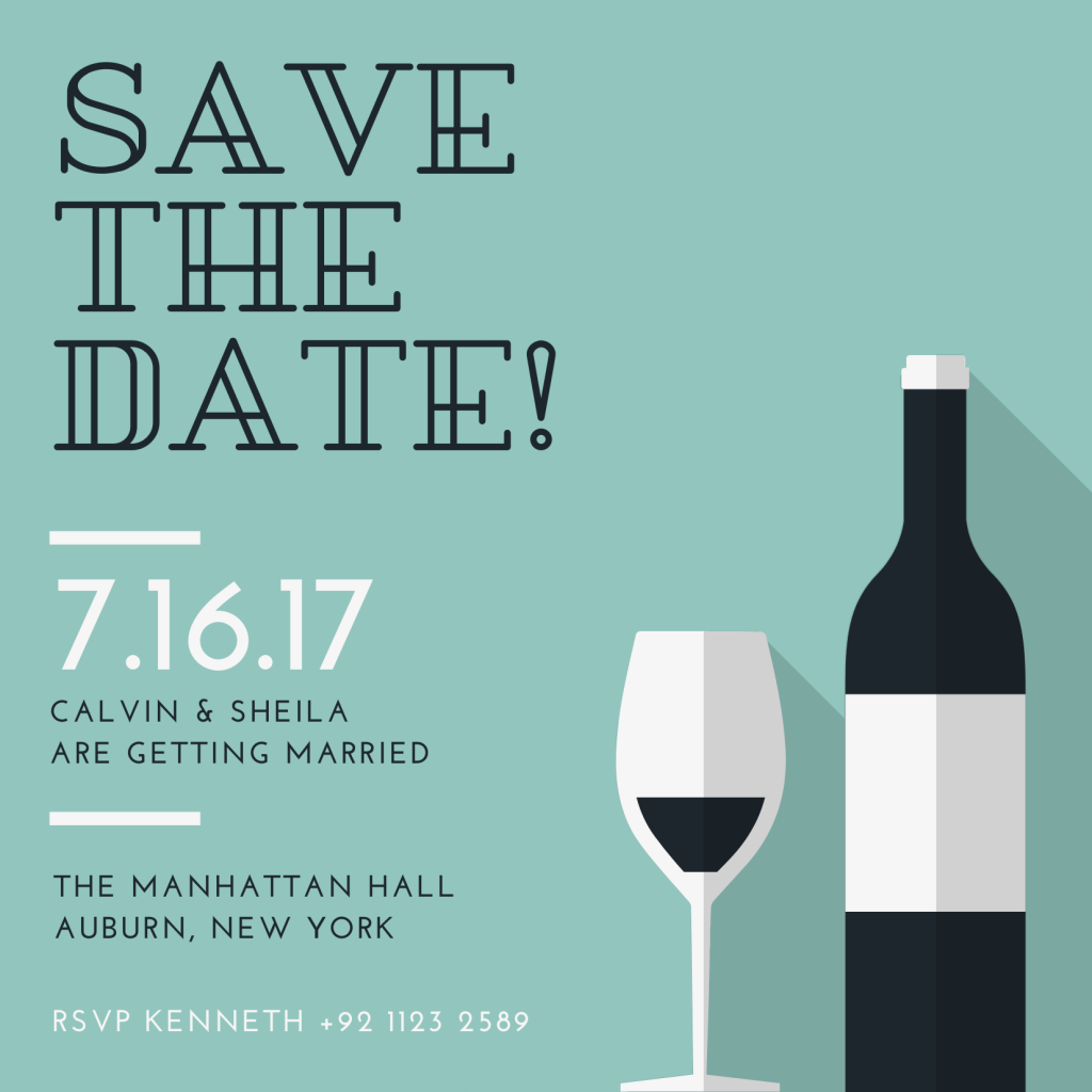 Save the Date Card Design 3