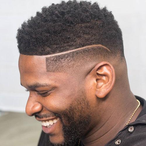 Bald Fade + Surgical Part + Short Twists - Haircut for Black Men