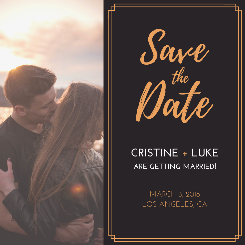 Save the Date Card Design 1