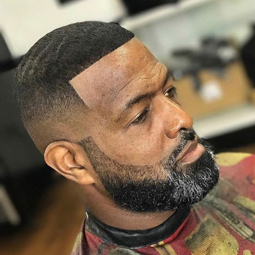 Buzz Cut + Line Up + Full Beard - Haircut for Black Men