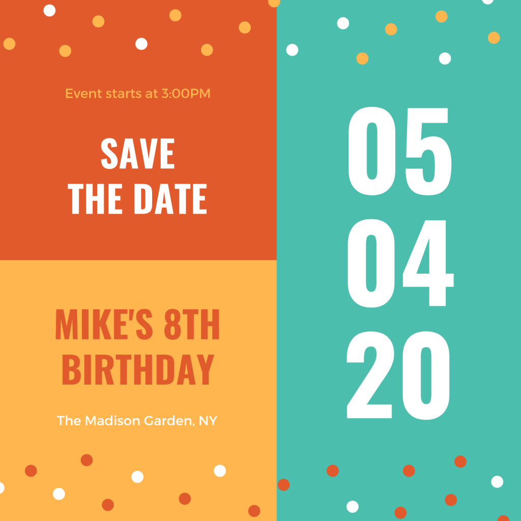 Save the Date Card Design 4