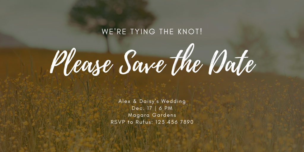 Save the Date Card Design 9