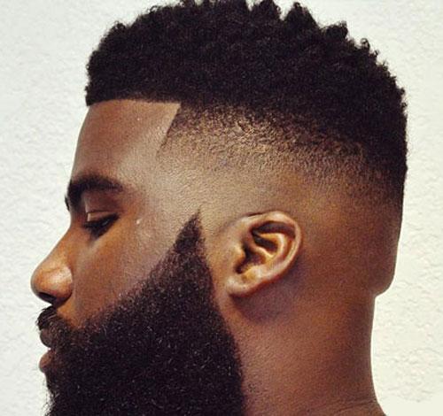 Fade with Beard - Haircut for Black Men