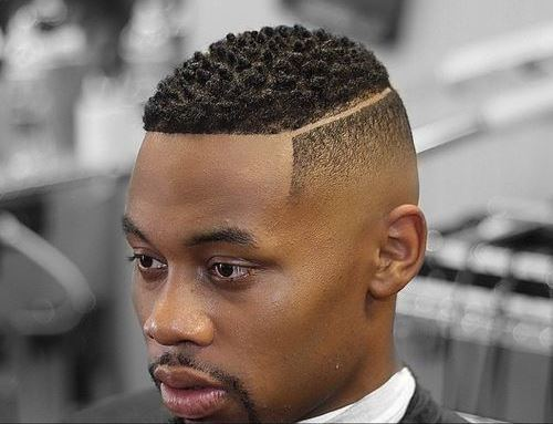 High Fade with Disconnected Part - Haircut for Black Men