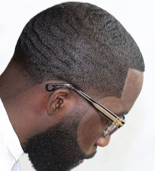Line Up with Waves - Haircut for Black Men