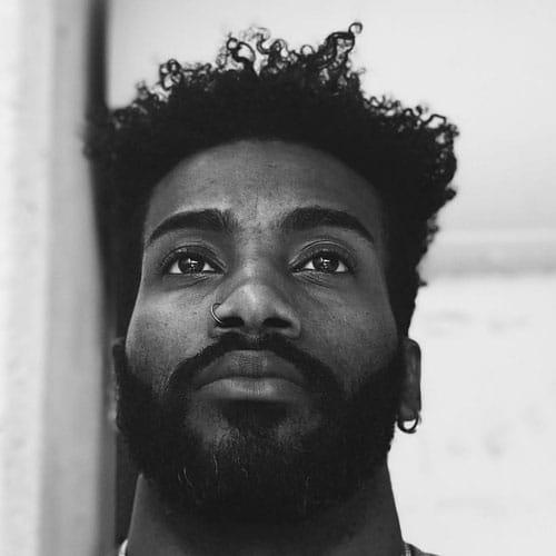 Long Kinky Hair + Full Beard - Haircut for Black Men