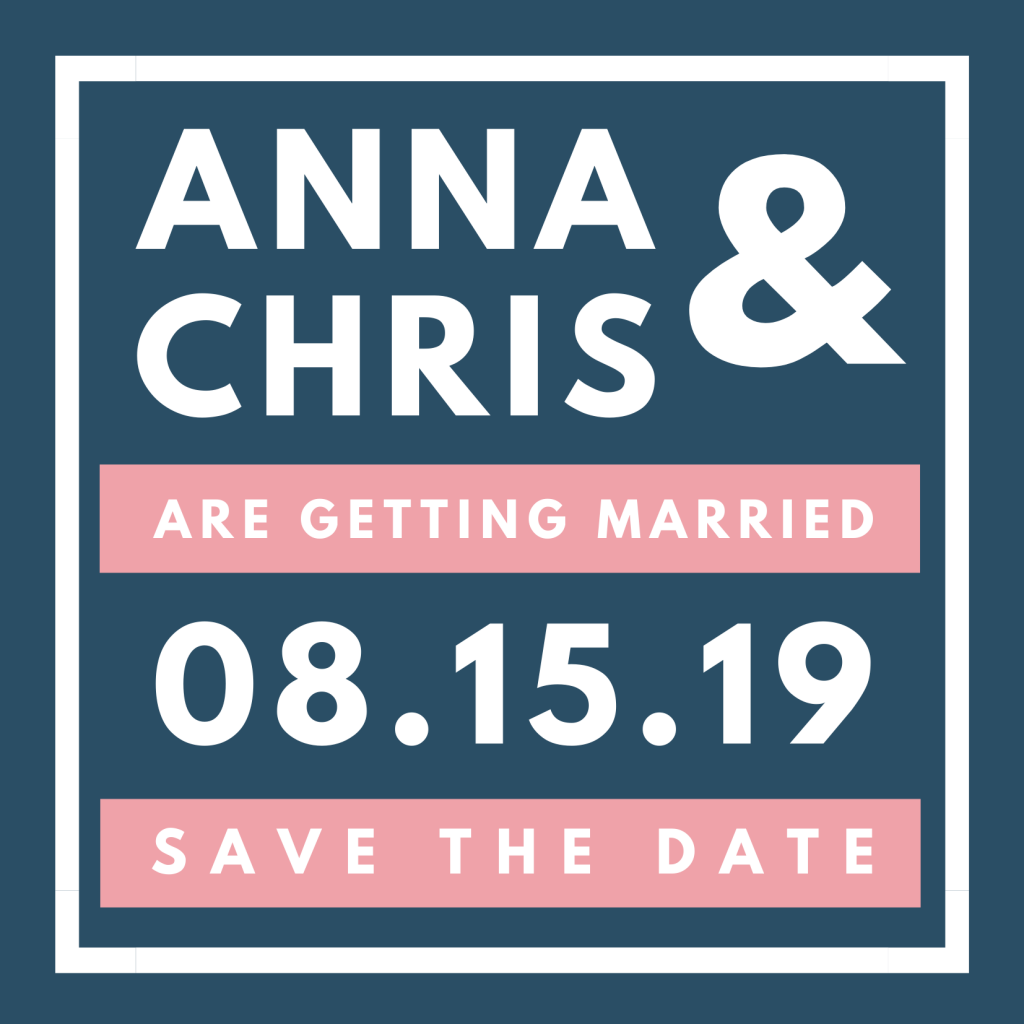 Save the Date Card Design 6