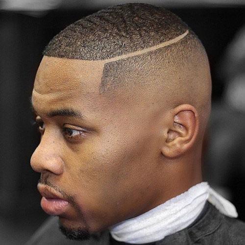 Short Part with Fade - Haircut for Black Men