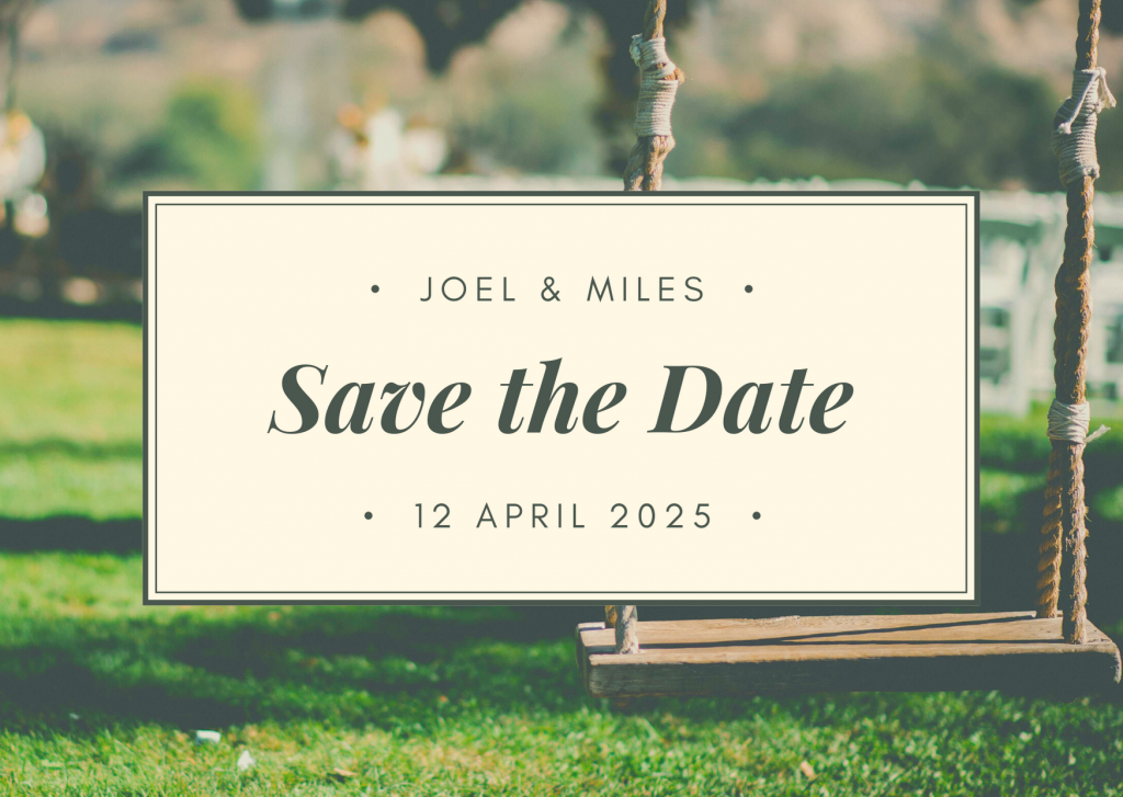 Save the Date Card Design 8