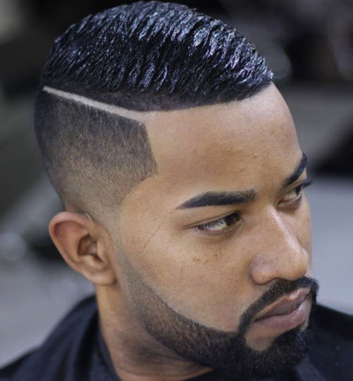 Taper and Hard Part with Wave Cut - Haircut for Black Men