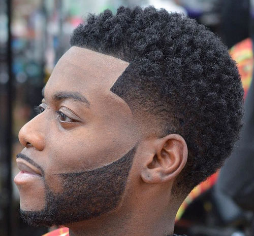 Temple Fade with Sponge Twists - Haircut for Black Men