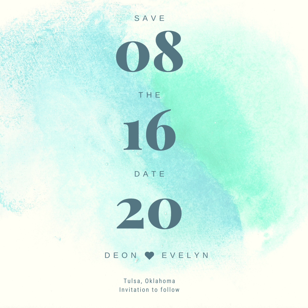 Save the Date Card Design 2