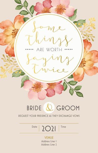 Wedding Invitation Card Sample 43