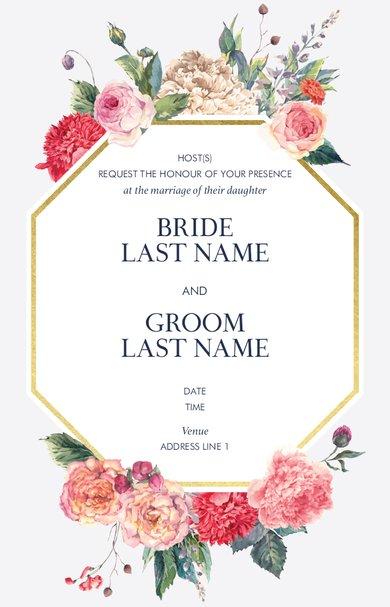 Wedding Invitation Card Sample 42