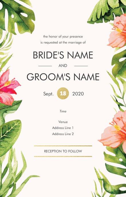 Wedding Invitation Card Sample 34