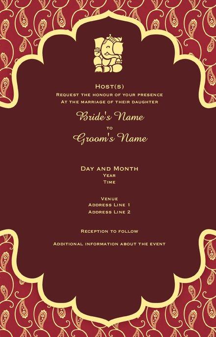 Wedding Invitation Card Sample 52