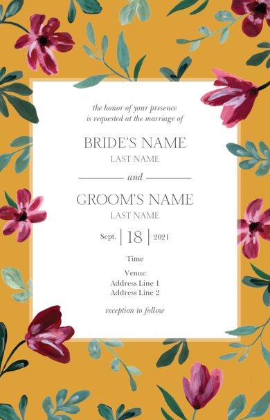 Wedding Invitation Card Sample 26