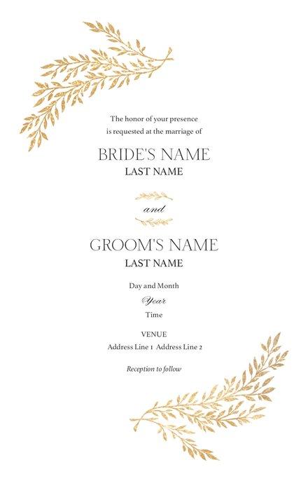 Wedding Invitation Card Sample 25