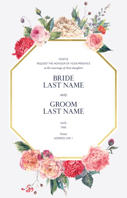 Wedding Invitation Card Sample 50