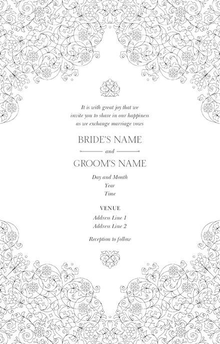 Wedding Invitation Card Sample 20