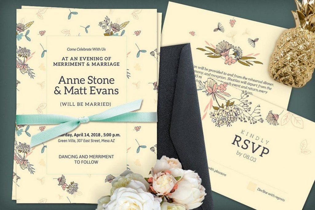 Wedding Invitation Card Sample 12