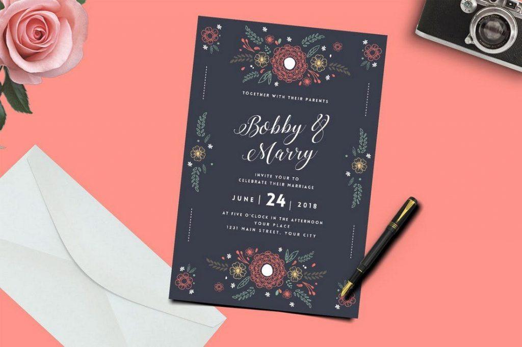 Wedding Invitation Card Sample 11