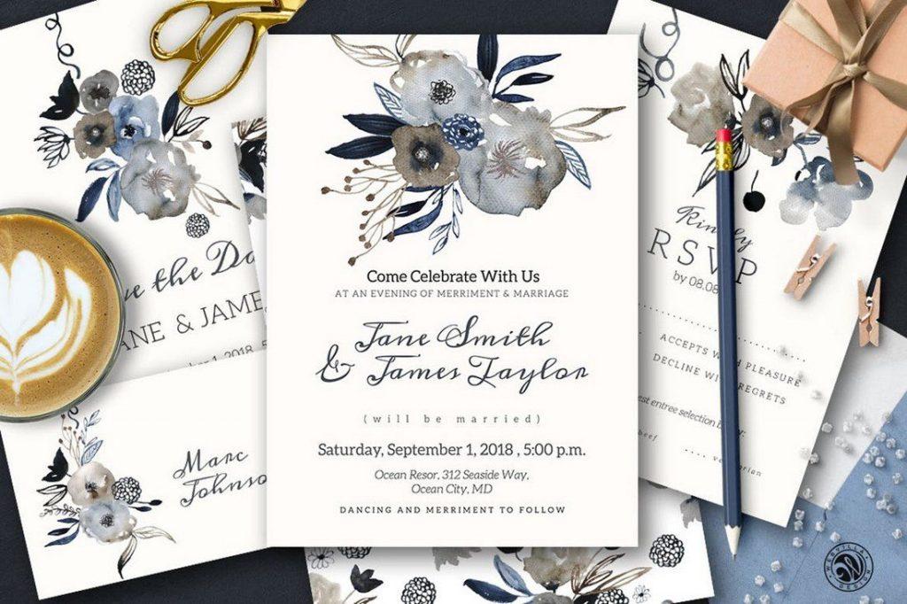 Wedding Invitation Card Sample 8