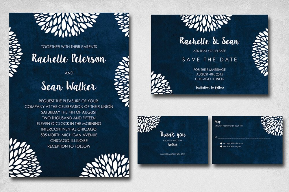 Wedding Invitation Card Sample 5