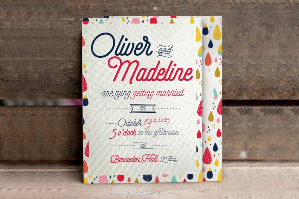 Wedding Invitation Card Sample 2