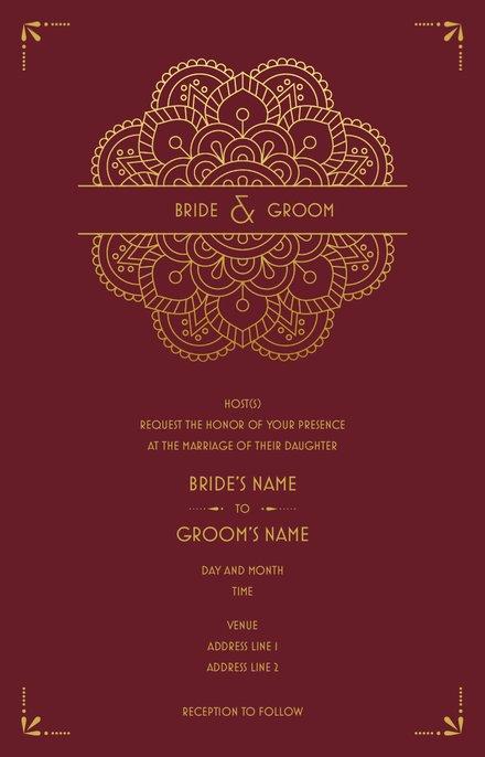 Wedding Invitation Card Sample 46