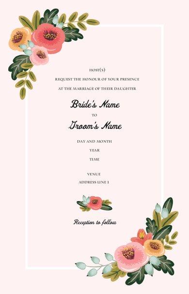 Wedding Invitation Card Sample 44