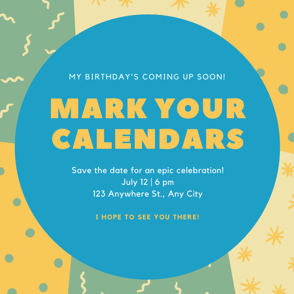 Save the Date Card Design 5